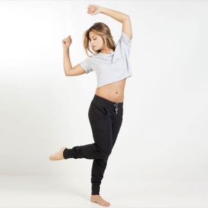 Pantalon danse noir en coton stretch by Freddy